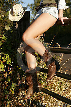 Free Cowgirl Legs Stock Photography - 1662102