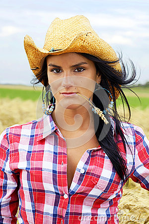 Cowgirl portrait vertical