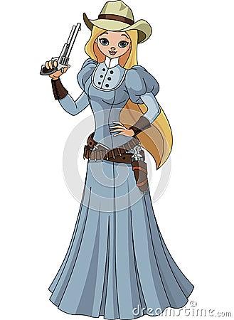 Cowgirl potomstwa zachodni dzicy