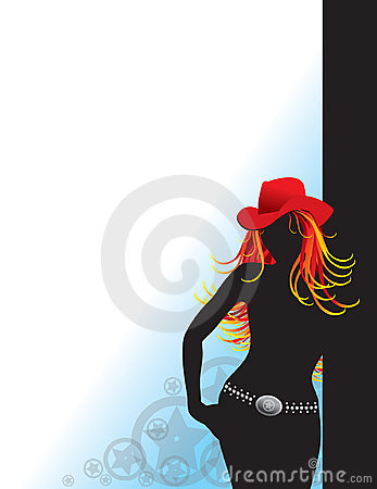 Free Cowgirl Silhouette Royalty Free Stock Photography - 2367507