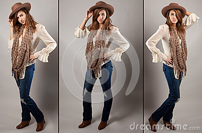 Cowgirl Triptych