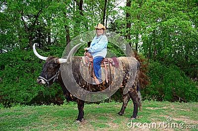 Cowgirls Ride Steers
