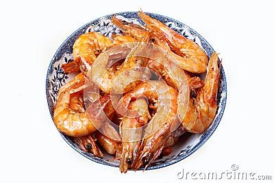 Cozimento do camarão