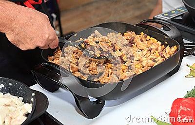 Cozinhando a carne