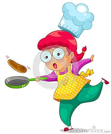Cozinhando a menina