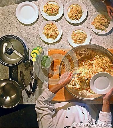 Cozinheiro chefe da classe de cozimento