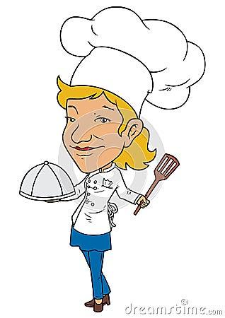 Cozinheiro chefe fêmea