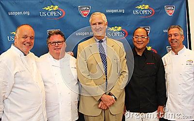 Cozinheiros chefe David Burke da celebridade, Tony Mantuano, Masah Imagem Editorial