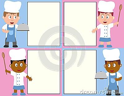 Cozinheiros chefe e menu