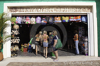 Cozumel Mexico - Souvenir Shopping Market Editorial Image