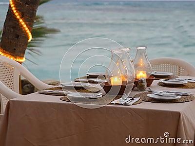 Cozy beach restaurant