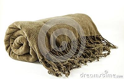 Cozy fringe blanket