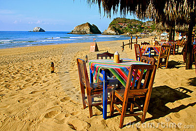 Cozy mexican beach restaurant