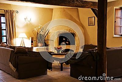 Cozy Rustic Livingroom.