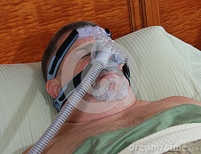 CPAP Mask On Adult Face