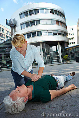 Free CPR As First Aid Stock Photo - 21173320