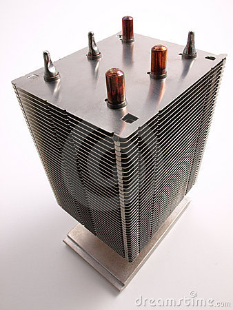 CPU Heat Sink top view