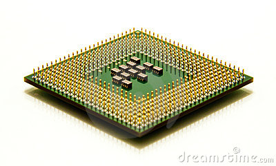 CPU microprocessor isolated on white