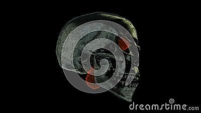 Cráneo ardiente almacen de metraje de vídeo