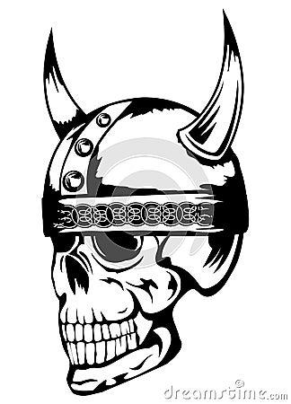 Crâne dans le casque Vikings 3