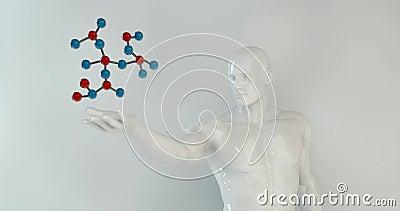 Création de la Science faisant une boucle avec le nouveau concept scientifique de découverte illustration stock