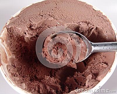Crême glacée de chocolat