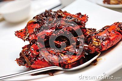 Crab in black pepper sauce