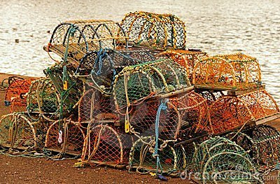 Crab and Lobster pots, Dunbar, Scotland
