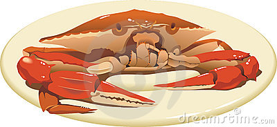 Crab on the plate