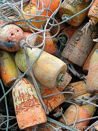Free Crab Traps, Pots And Floats Royalty Free Stock Images - 15220289