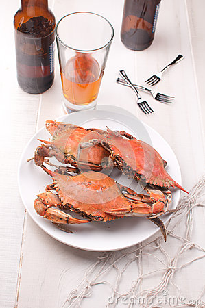 Crabs and beer dinner