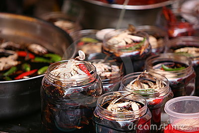 Crabs.Fish market in South Korea