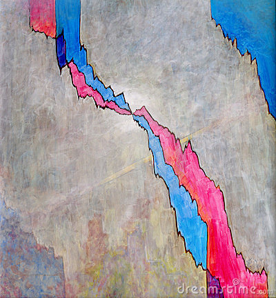 Crack - an abstract painting