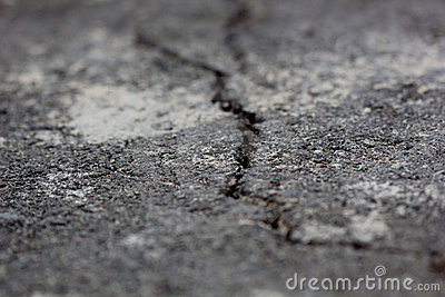 Crack on asphalt