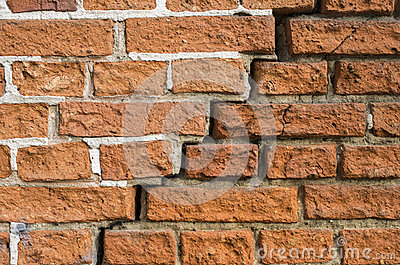 A crack in a brick wall