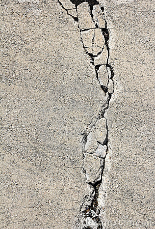 Crack On Cement Pavement