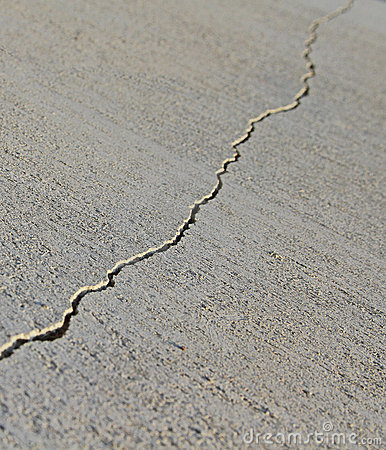 Crack in the concrete