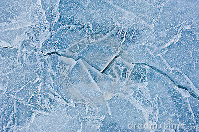 Crack in ice