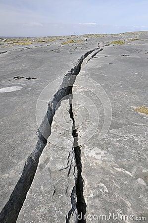 Free Crack In Limestone Pavement Stock Photo - 22849750
