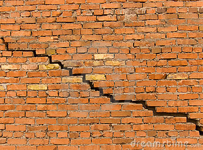 Crack In A Wall From A Brick Stock Photography Image