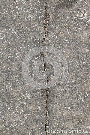 Cracked asphalt pavement Stock Photo