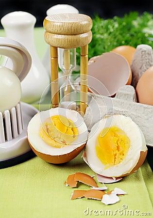Cracked Boiled Egg