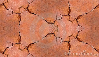 Cracked Brickwork Tile Pattern Background Texture