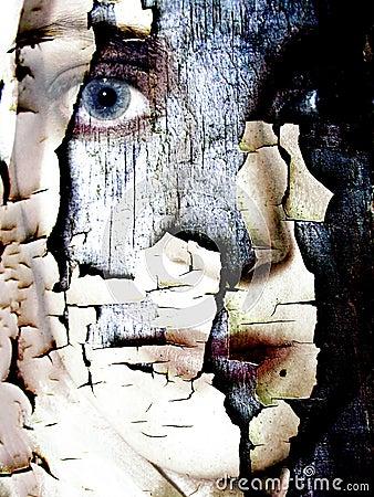 Cracked Dry Skin Female Face