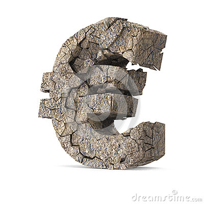 Free Cracked Euro Royalty Free Stock Photo - 29743155