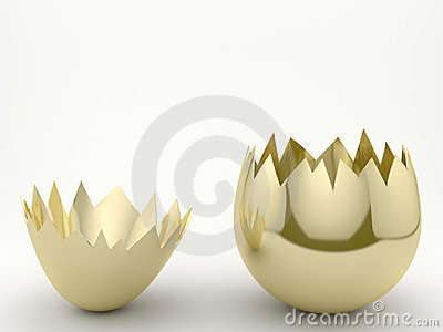 Cracked Golden egg