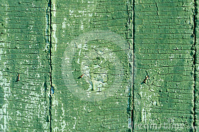 Cracked green texture