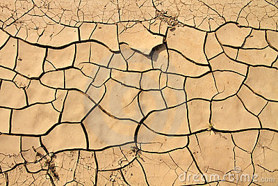 Cracked ground texture