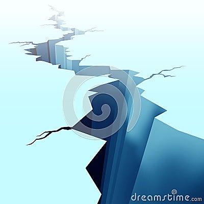 Free Cracked Ice On Frozen Floor Royalty Free Stock Image - 22217936