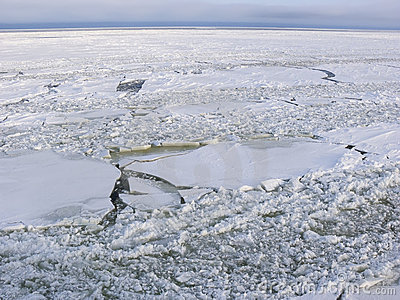 Cracked ice sheets